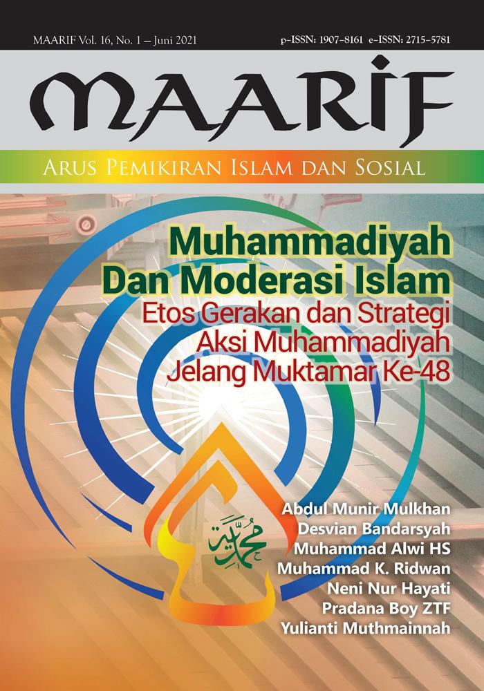 View Vol. 16 No. 1 (2021): Muhammadiyah dan Moderasi Islam; Etos Gerakan dan Strategi Aksi Muhammadiyah Jelang Muktamar Ke-48